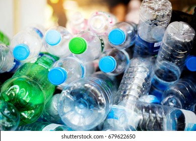 Selective focus,plastic bottle for recycle waste,Waste separation concept.