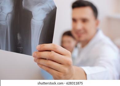 Selective photo of a radiograph