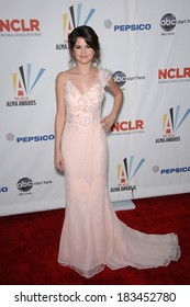 Selena Gomez, wearing a Tracy Reese gown, at The NCLR 2009 ALMA Awards, Royce Hall on UCLA Campus, Los Angeles, CA September 17, 2009