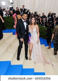 Selena Gomez and The Weeknd attend the 2017 Metropolitan Museum of Art Costume Institute Gala at the Metropolitan Museum of Art in New York, NY on May 1st, 2017