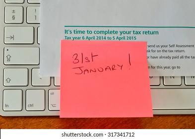 Self assessment tax return reminder