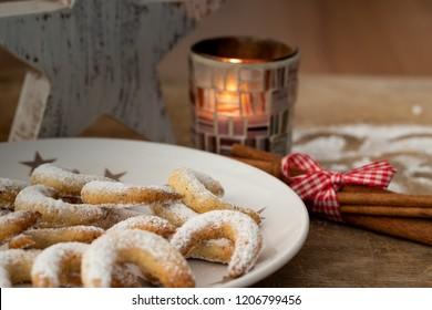 self baked vanilla crescents