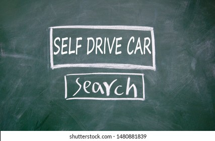Self drive car search interface on blackboard