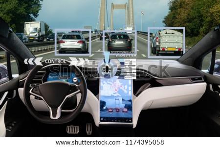 Self driving car on