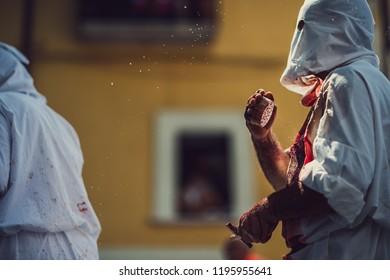 Self Flagellation Christian Ritual In Itlay