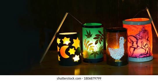 Self made lanterns for St. Martin's Day, Headline