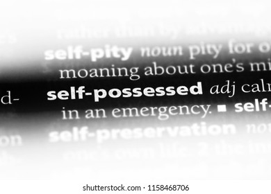 self possessed word in a dictionary. self possessed concept.