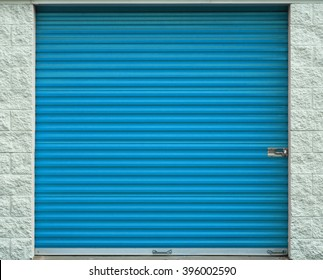 Self storage door. Life style, storage, moving, storing, organizing concept.
