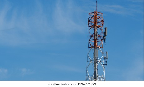 Mobile Phone Telephone Tower Stock Photo (Edit Now