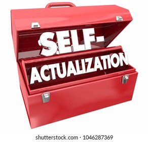 Self-Actualization Tools Toolbox Realize Full Potential 3d Illustration
