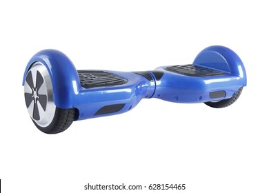 Self-balancing scooter or hoverboard isolated on white background