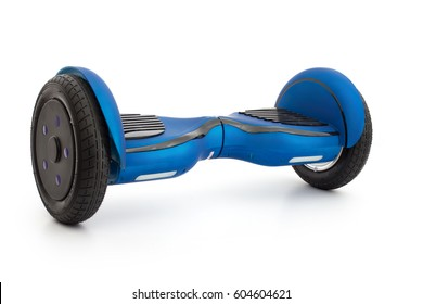 Self-balancing two-wheeled board or hoverboard scooter isolated on white background
