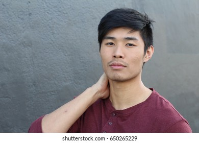 Self-confident male with a nice look