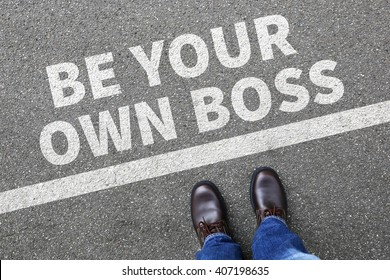 Self-employed self employed employment be your own boss businessman business man concept