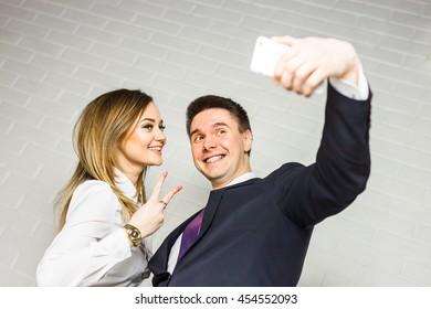 Selfie of employees