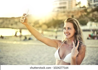 Selfie on vacation