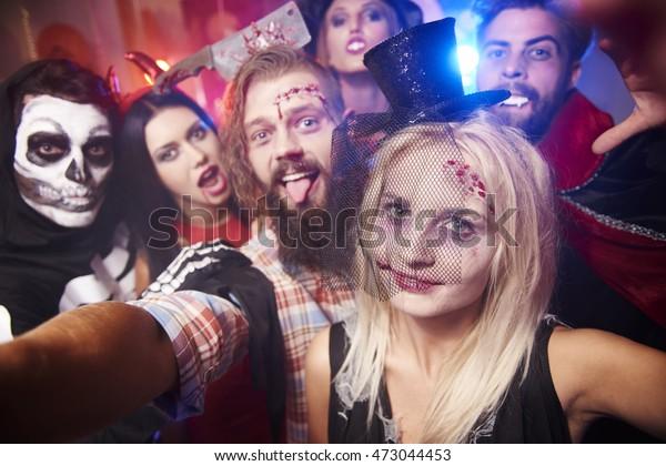 Selfie taken at the halloween party