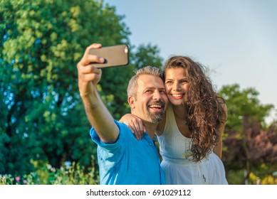 Selfie taking couple
