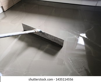 Self-leveling concrete is typically used to create a flat and smooth surface with a compressive strength similar to or higher than that of traditional concrete prior to installing interior floor.