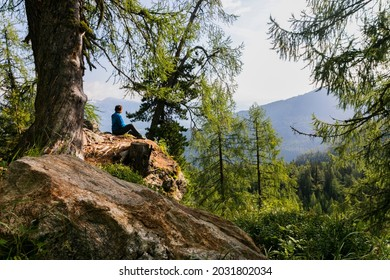 selfportrait on a hike trough the styrian mountains in austria