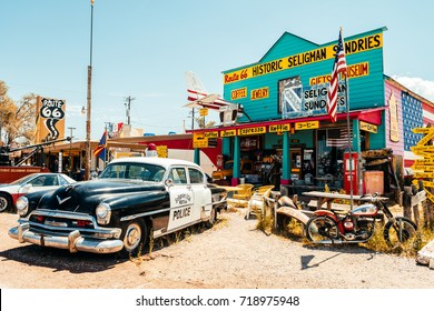 SELIGMAN. ARIZONA. 28th August, 2017: famous seligman town of route 66, arizona