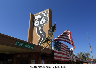 Seligman, Arizona, United States - September 11, 2017: Gift shop on the historic route 66