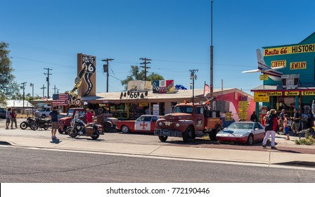 SELIGMAN - SEP 25: The Historic Seligman Sundries on September 25, 2016 in Seligman, AZ on Historic Route 66. Built in 1904, today, Seligman Sundries is Seligman's only gourmet coffee bar and gift sho