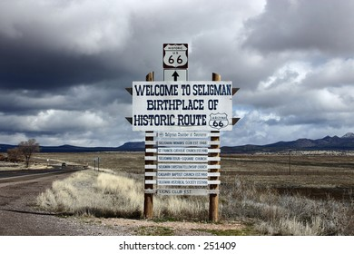 Seligman sign of Historic Route66