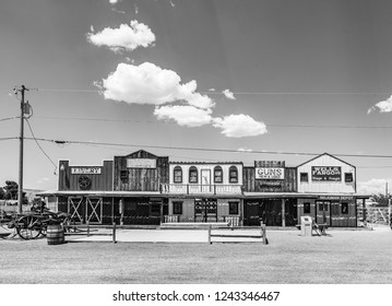 SELIGMAN, USA - JUL 8, 2008: The Historic Seligman depot on historic Route 66 in Seligman, AZ, USA. Built in 1904, today, Seligmans depot is the best original western facade all over Route 66.