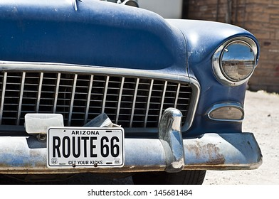 SELIGMAN, USA - June 8: Famous stop of the Route 66 on June 8, 2013 in Seligman. Famous as origin of historic Route 66 and inspiration for the town of Radiator Springs in the Pixar movie Cars