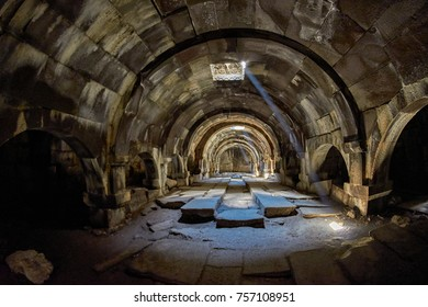 SELIM PASS, ARMENIA - 02 AUGUST 2017: Inside the Gorgeous Selim Caravanserai of Amenia