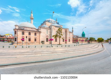 Selimiye mosque with Mevlana Square - Konya, Turkey