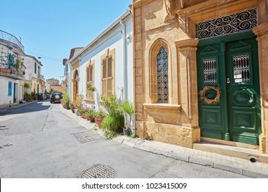 Selimiye street view around Selimiye Mosque in North Nicosia. Nicosia is populer tourist destination in Northern Cyprus.