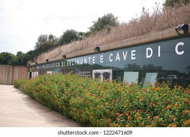 Selinunte, Italy - September 02, 2018: Entrance of selinunte archaeological park