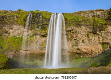 Seljalandsfoss is a waterfall in Iceland. Seljalandsfoss is located in the South Region in Iceland right by Route 1 and the road that leads to Þórsmörk Road 249.