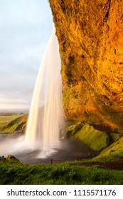Seljalandsfoss waterfall is one of the most famous waterfalls of Iceland, South-West Iceland
