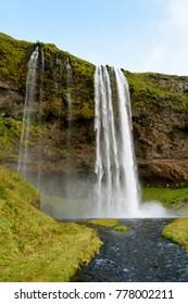 Seljalandsfoss, a waterfall in South Region of Iceland