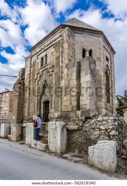 Seljuk tombs view in Amasya City,