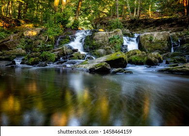 The Selke waterfall in the Harz Mountains