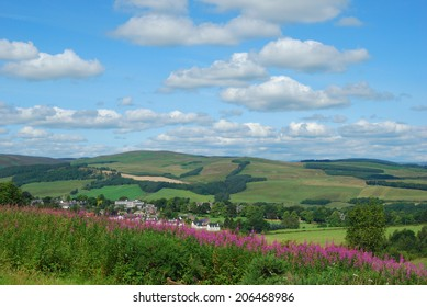 Selkirk and the countryside hills and forrests