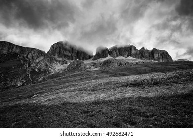 Sella pass landscape