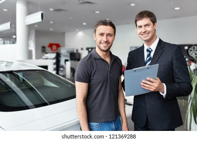 The seller and the buyer in the auto show