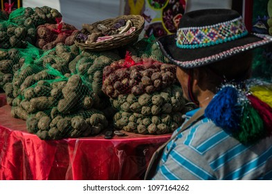 Seller seeing his small potatoes called: Native potatoes