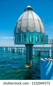SELLIN, GERMANY - JUNE 23, 2016: Diving gondola in Sellin on the island of Rügen at the Baltic Sea