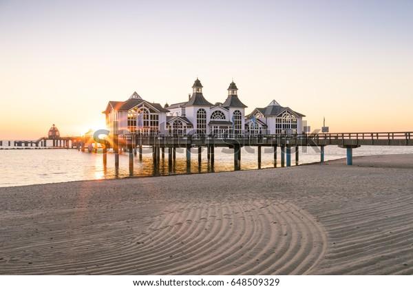 Sellin, Ruegen, Germany - Pier at the Baltic Sea