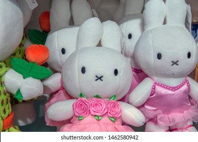 Selling Miffy Puppets At Amsterdam The Netherlands 2018