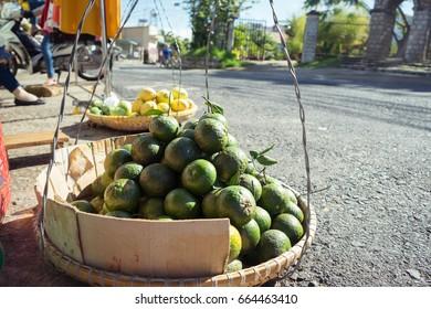 selling thick skin green orange on asia street