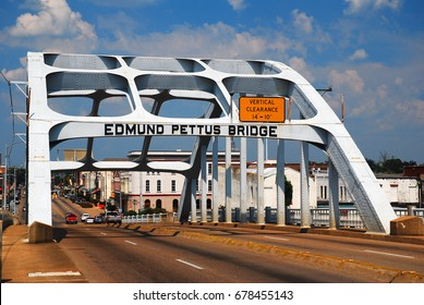 Selma, AL, USA September 14, 2011 The Edmund Pettus Bridge was the sight of a violent melee during Martin Luther King's first march to Montgomery.  Today it is a civil rights landmark.