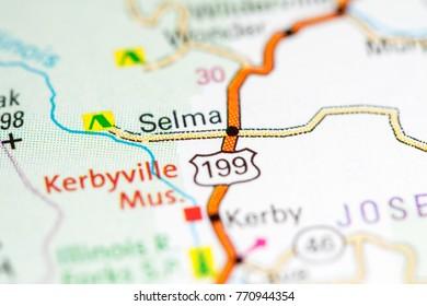 Selma Map Images Stock Photos Vectors Shutterstock