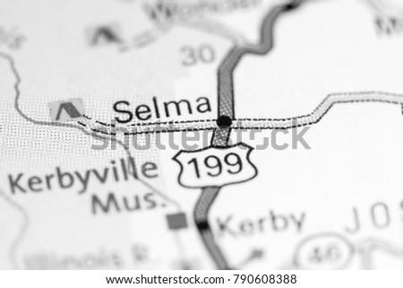 Selma Oregon Usa On Map Stock Photo Edit Now 790608388 Shutterstock